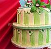 Thumbnail Unique green and cream wedding cake