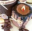 Thumbnail Unique chocolate candle cake